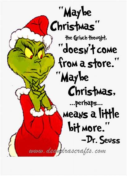 Grinch Maybe Clipart Stole Quotes Transparent Svg