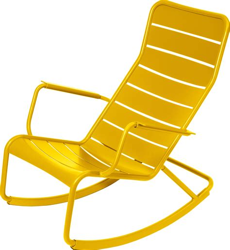 chaise colorée luxembourg rocking chair honey by fermob