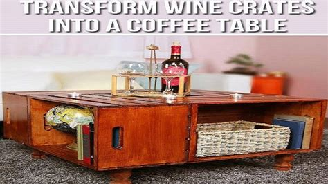 Making a wooden coffee table from scratch might be difficult because it involves a lot of efforts such as cutting the wood pieces and assembling them i came across this nice diy project to repurpose recycled wooden crates into a nice coffee table. DIY Wine Crate Coffee Table   5 minute crafts   Nifty   Crate coffee table, Wine crate coffee ...