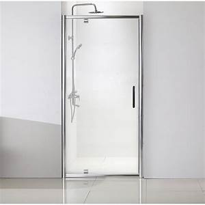 Porte de douche pivotante 100 cm transparent quad for Porte douche pivotant 100 cm