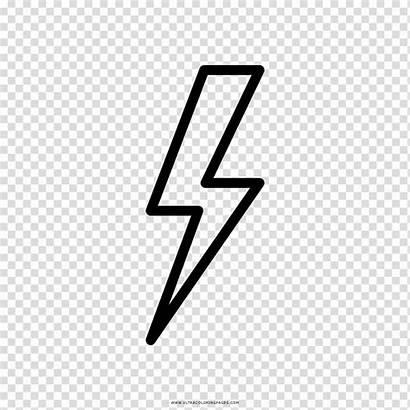Lightning Thunder Drawing Coloring Rayo Lampo Dibujo