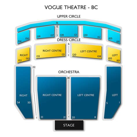 bureau front national vogue theatre bc seating chart seats