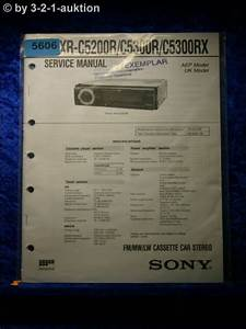Sony Service Manual Xr C5200r  C5300r  C5300rx Car Stereo