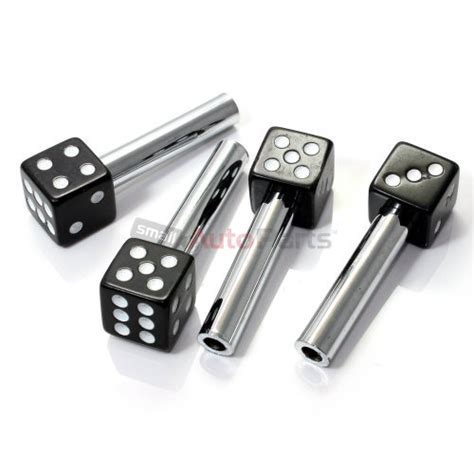 car door lock knobs 4 custom black dice interior door lock knobs pins for car