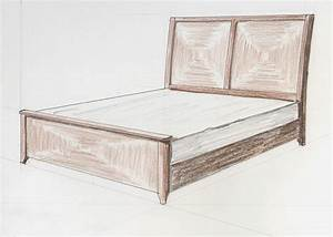 Walnut Bed in Perspective The Furniture Maker