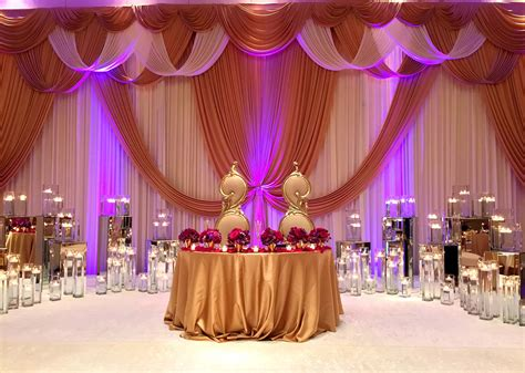 Wedding Reception Decorations by Exquisite Hindu Wedding Decorations With Curtains Flowers