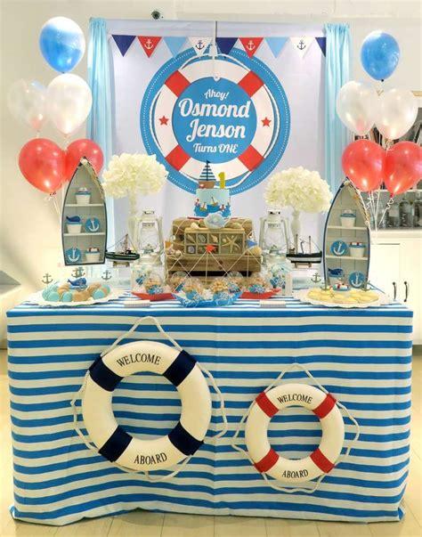 nautical theme birthday party ideas   nautical