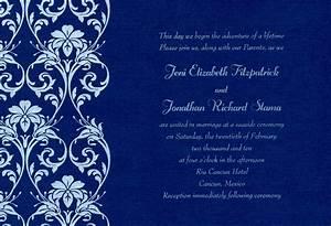 blue wedding invitations templates lake side corrals With wedding invitation blank template royal blue