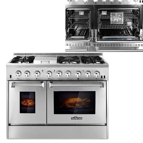 "Kitchen 48"" Dual Fuel 6 Burner Stainless Gas Range w"