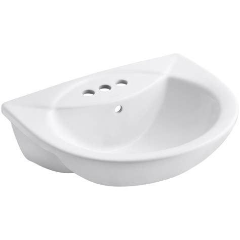 bathroom sink drain home depot kohler pennington drop in vitreous china bathroom sink in