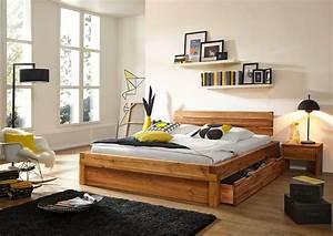 Betten Mit Bettkasten : sam balkenbett kernbuche benno massiv mit bettkasten 200 x 200 cm ~ Orissabook.com Haus und Dekorationen