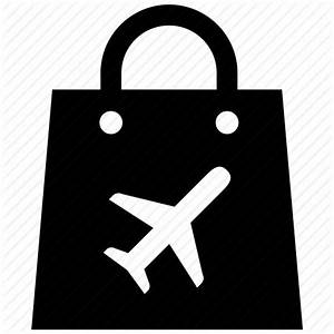 Airport, bag, duty, free, purse, shopping, travel icon ...