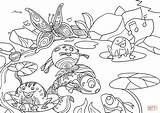 Coloring Pond Colorare Stagno Printable Disegno Drawing Disegni Nello Adult Crafts Paper sketch template