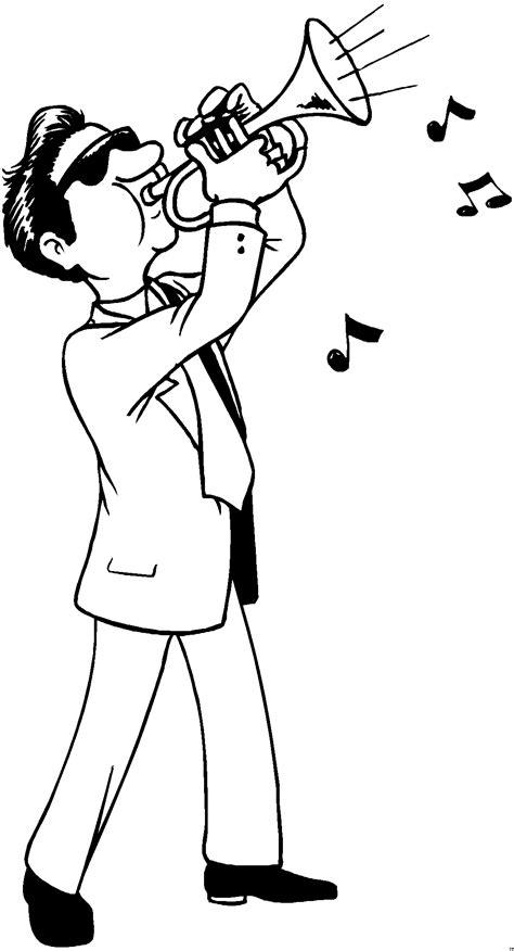 mann trompete ausmalbild malvorlage musik