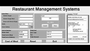 How To Create Restaurant Management Systems In Visual