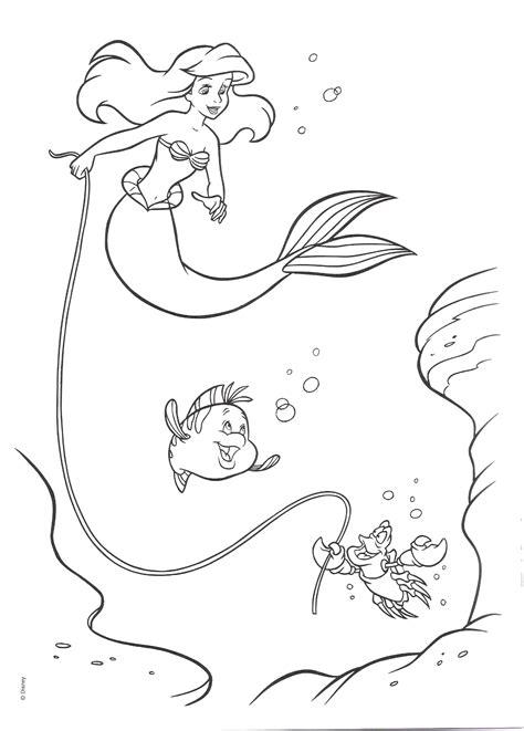 Desenhos Da Pequena Sereia Para Colorir E Imprimir