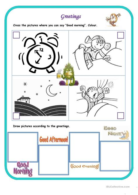 good morning worksheet  esl printable worksheets