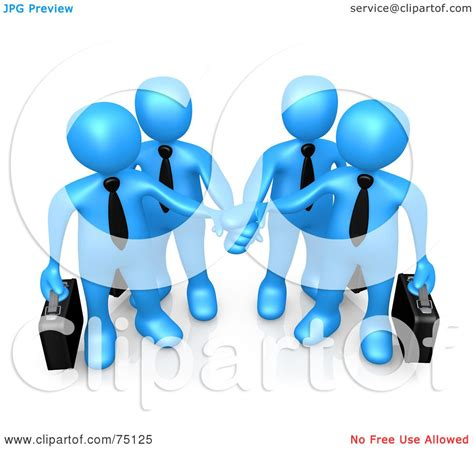 business clipart royalty free rf clipart illustration of four blue