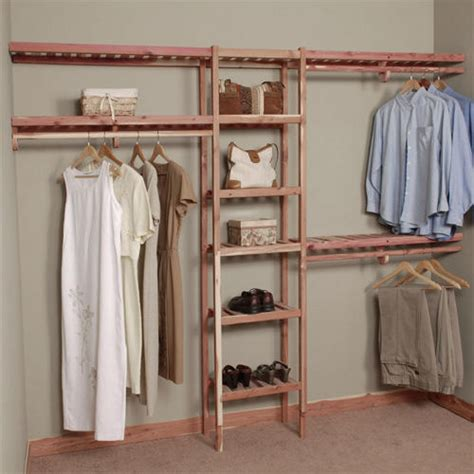 Closet Signature Clothing by Basic Ventilated Cedar Closet Wall Kit Home Accents
