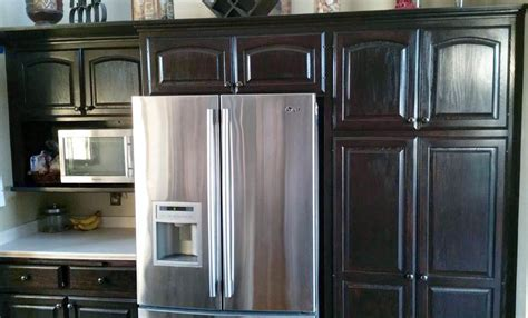 java gel stain kitchen cabinets java cabinet makeover general finishes design center 7615
