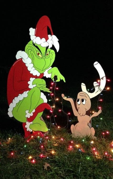 grinch stealing lights the grinch yard and outdoor decorations