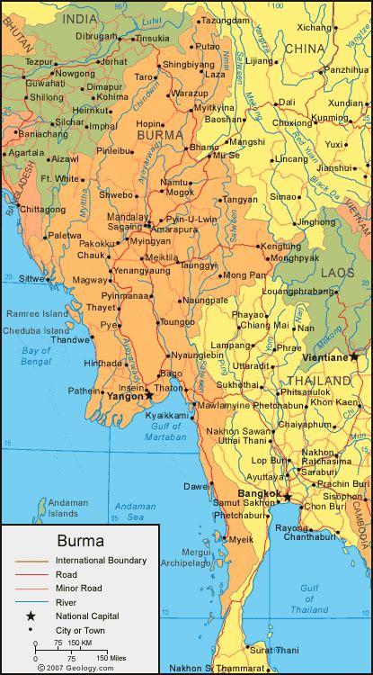 burma map  satellite image map  myanmar