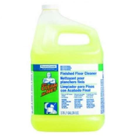 Mr Clean Bathroom Cleaner Discontinued by Mr Clean 1 Gal Lemon Scent Finished Floor Cleaner
