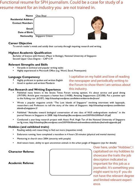 resume template singapore resume sample
