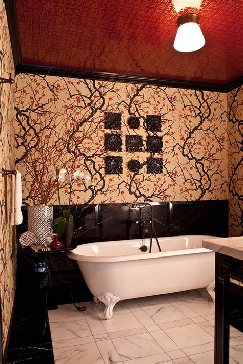 sensational bathrooms   ravishing flair  red