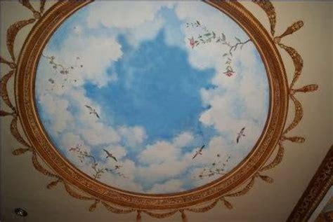 jasa cat motif gambar awan  plafon kreasi karya cipta
