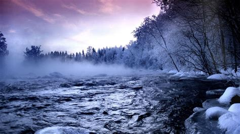 Cool Winter Background by Winter Landscapes Wallpapers Wallpaper Cave