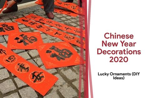 chinese year decorations lucky ornaments diy ideas