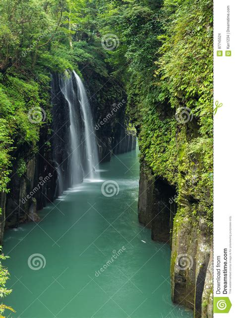 Takachiho Gorge And Waterfall In Miyazaki Japan Stock