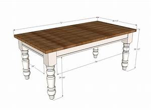 Ana white husky farmhouse table diy projects for Kitchen table plans