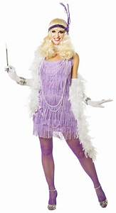 Lilac Snazzy Adult Flapper Costume - CandyAppleCostumes