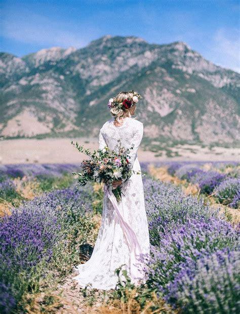 Bridal Portraits In A Lavender Field Bridal Portraits