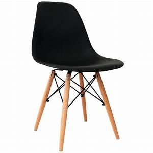 Lot De Chaises Design Pas Cher : lot de 4 chaises design noir nina achat vente chaise salle a manger pas cher couleur et ~ Melissatoandfro.com Idées de Décoration