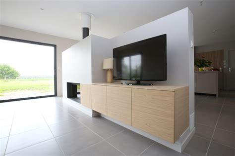 support tv motorisé cuisine salon salle 195 manger industriel chic cloison tv pivotante meuble cloison tv cloison