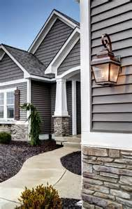 Exterior House Colors with Gray Stone