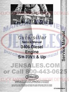 Caterpillar 3406 Engine Service Manual S N 70v1  1