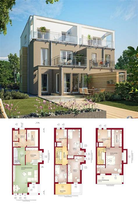 Doppelhaushälfte Grundrisse Modern by Doppelhaus Moderne Architektur Wohn Design