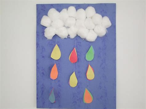rain preschool crafts cloud mobile craft for wind and weather 171