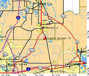 Crystal Springs Florida Map