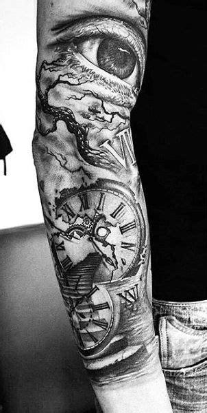 80 Clock Tattoo Designs For Men - Timeless Ink Ideas | Tattoos | Tattoos, Sleeve tattoos
