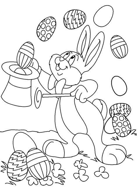 Easter Color Pages Printable by Coloring Town