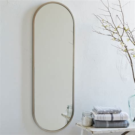 floor mirror oval metal oval floor mirror modern wall mirrors by westelm com au