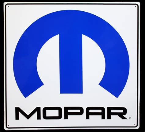 """000; Mopar Painted Metal Sign  Very Large 30"""" X 30"""