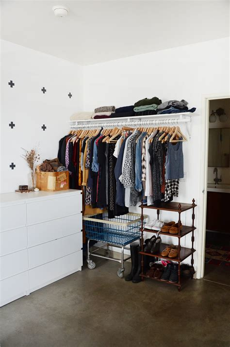 make a closet in a small bedroom 9 ways to organize a bedroom with no or small 21116