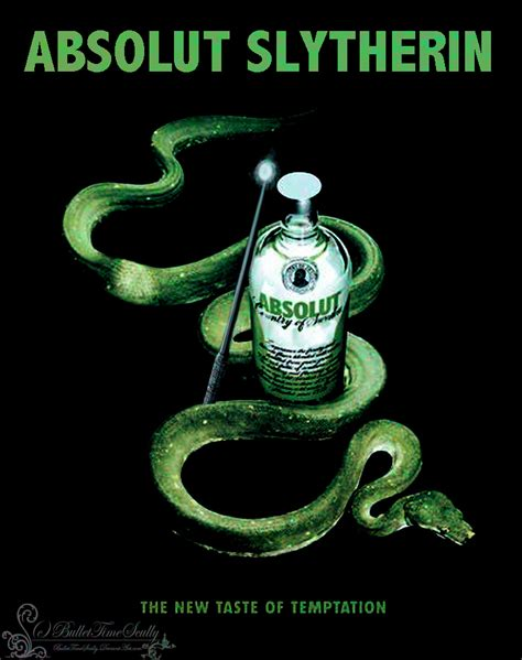 absolut slytherin  bullettimescully  deviantart