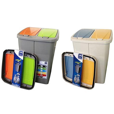 poubelle de tri cuisine poubelle de tri sélectif cuisine 2 compartiments 2 x 22 5